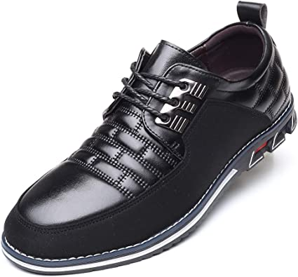 Eleganza Industrializzare colorazione  Amazon.com | COSIDRAM Men Casual Shoes Luxury Comfortable Loafers Driving  Flats Sneakers Shoes for Male Fashion Black Brown Leather Lace-up Business  Work Office Dress | Loafers & Slip-Ons