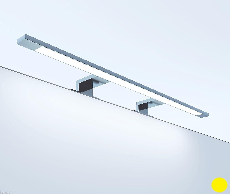 LED Badleuchte Badlampe Spiegellampe Spiegelleuchte Schranklampe Aufbauleuchte [Energieklasse A++] kalb Material für Möbel KA1074_WW