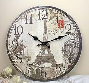 Amazon Com 13 Quot French Eiffel Tower Paris Quartz Wall