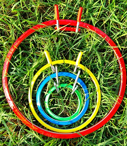 Darice Plastic Metal Embroidery Hoop 4 pcs in Set  Cross Stitch Ring   Tension Frame  Crosstitch Embroidery Holder   Needlepoint Stand   Circle Hoopla   Darning