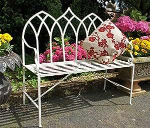 """""""Royal gótico"""" impresionante gótico estilo banco de jardín"""