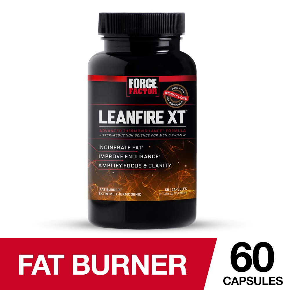 Force Factor LeanFire XT Thermogenic Weight Loss Supplement to Support Fat Oxidation with Added Energy, Endurance, and Mental Clarity, 60 Count