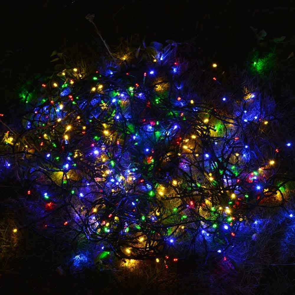 Dolucky Solar String Lights 72ft 200 LED 8 Mode Waterproof Christmas Solar Lights Outdoor Decorative Ambiance Light for Patio Lawn Garden Fence Balcony Party Holiday Christmas Decorations(Multicolor)