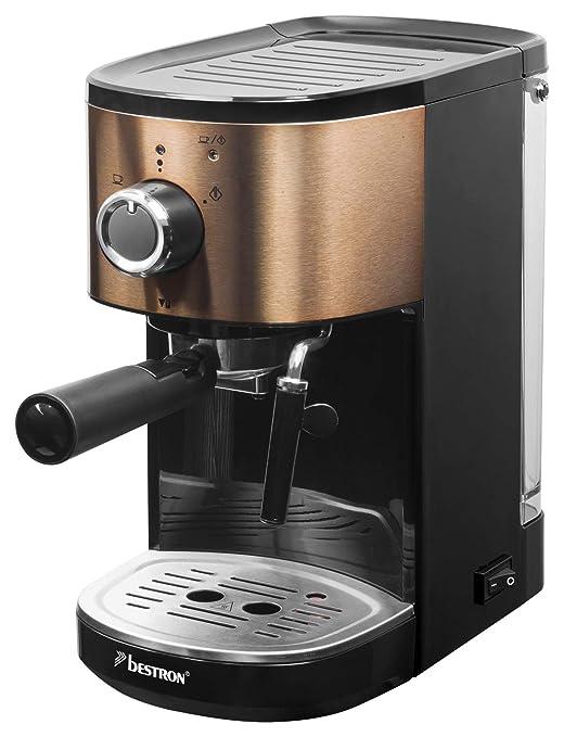 Bestron Copper Collection Cafetera Expreso para 2 Tazas, con Tubo ...