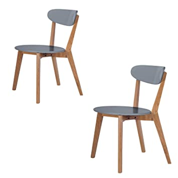 Scandinavian Retro White Dining Table and Chairs with Solid Oak