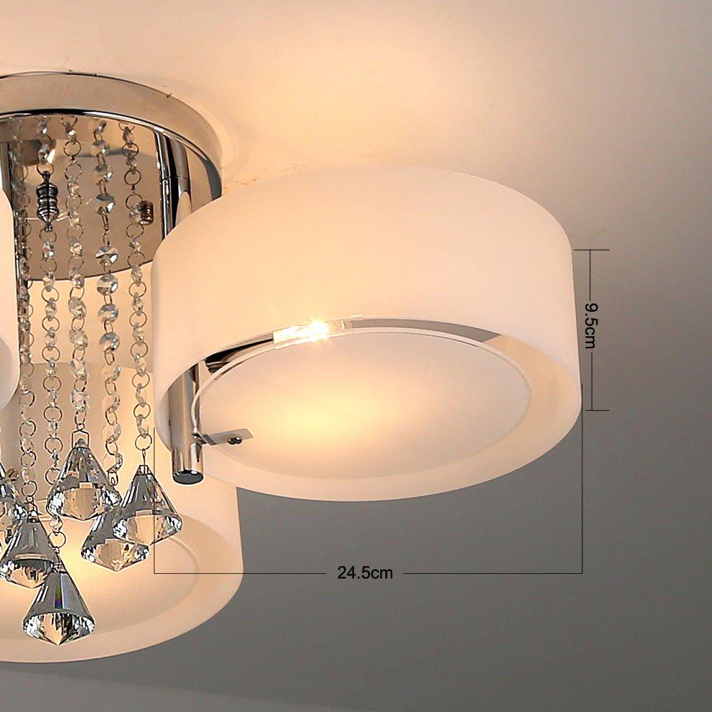 Natsen LED Kristall Deckenleuchte Deckenlampe Designer Wohnzimmer Lampe  3 Flammig LED E27 Ø60cm: Amazon.de: Beleuchtung