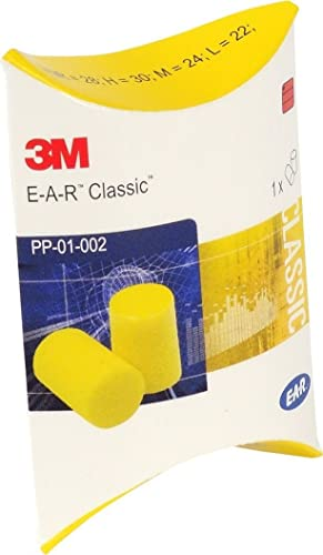 3M EAR Classic ear plugs, 50pairs packed in pairs, yellow, SNR = 28dB, Ear defenders