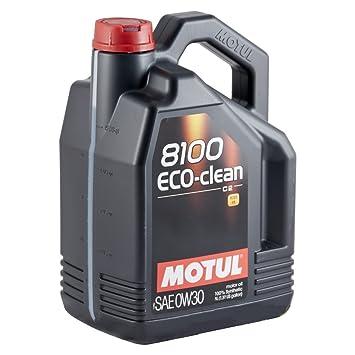 Motul 102889 8100 Eco-clean SAE 0W30 - Aceite para el Motor , 5 litros: Amazon.es: Coche y moto