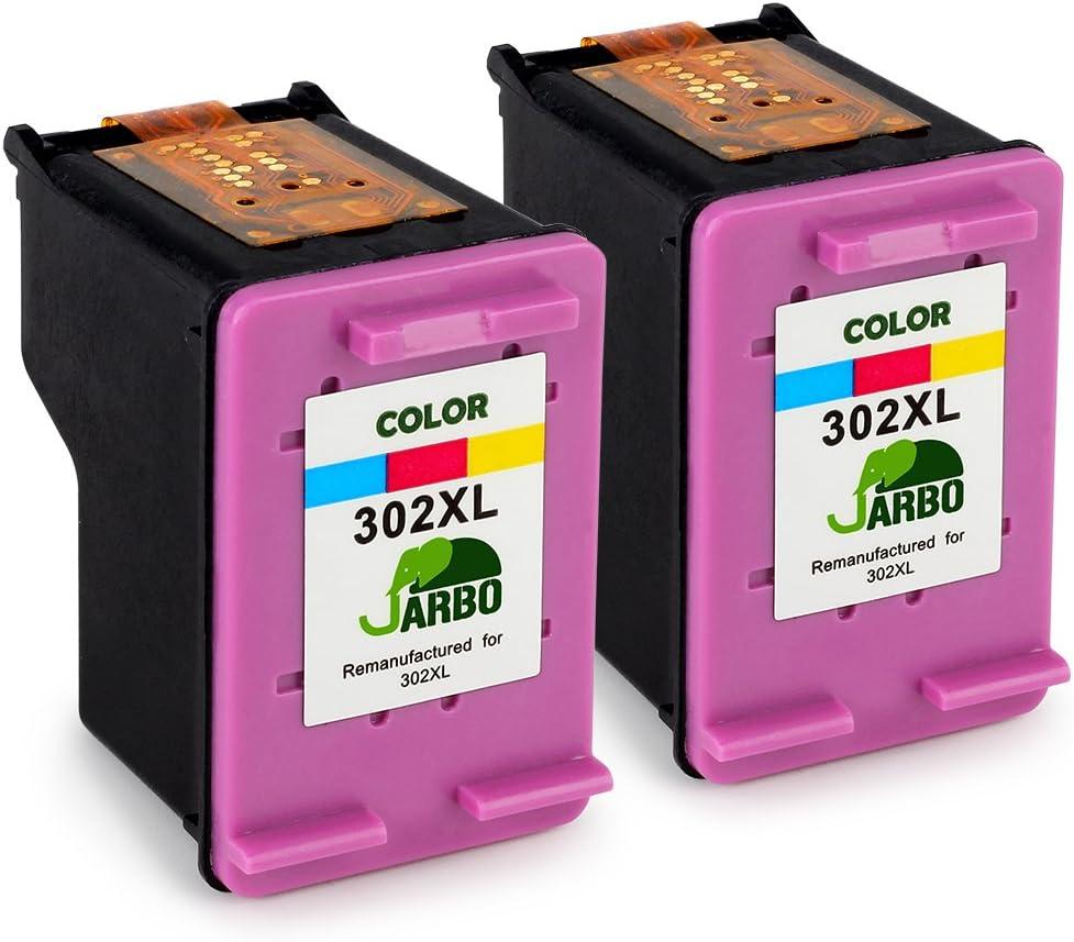 JARBO HP 302XL Cartouches dencre Remanufacturado, color Pack de 2 ...