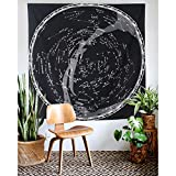 HOLY HOME Tapestry Constellation Map Starry Sky Nostalgia American Rural Retro Style Art Wall Hanging Home Décor 60''x50'' Black Transitional Changing