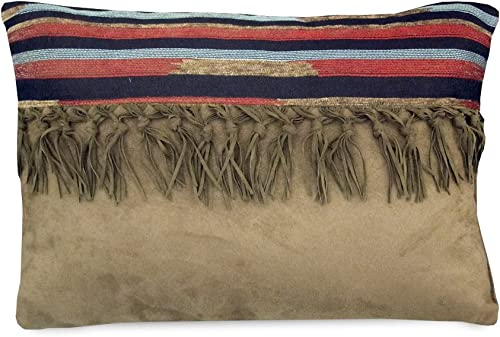 Veratex The Santa Fe Collection 100 Polyester Decorative Bedroom Tribal Southwestern Boudoir Pillow, Tan