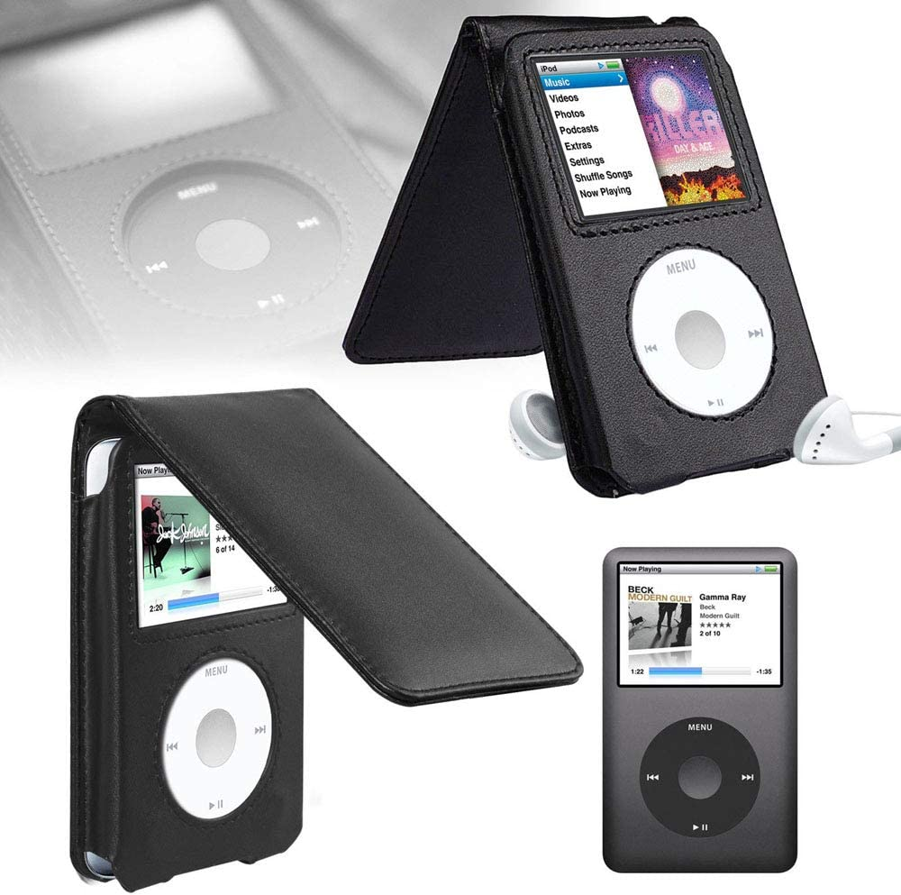 120GB /& Latest 6th Generation 160gb launched Sept 09 with Belt Clip Screen Protector BestforYou iPod Classic Case,Leather Flip Case Cover for Apple iPod Classic 80GB