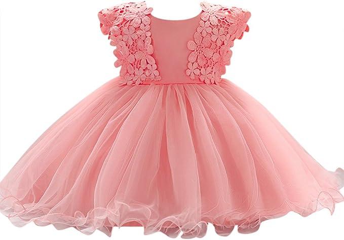 Baby Madchen Prinzessin Kleid Blumenmadchenkleid Taufkleid Festlich Kleid Hochzeit Partykleid Festzug Babybekleidung Amazon De Bekleidung