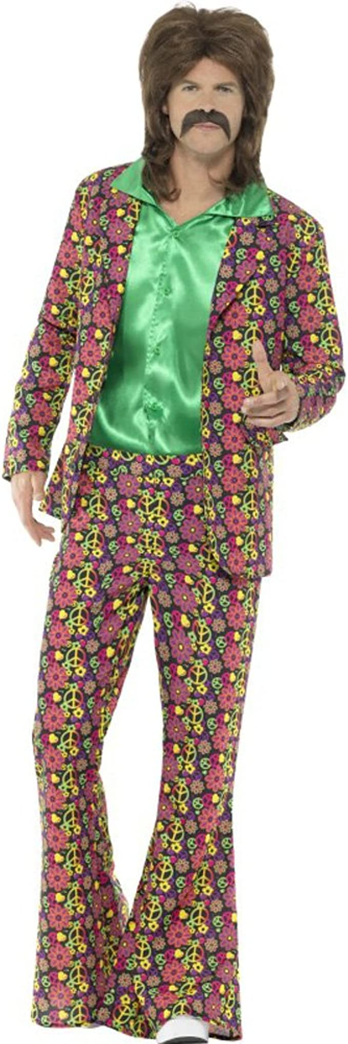 60s -70s  Men's Costumes : Hippie, Disco, Beatles Smiffys 60s Psychedelic CND Suit $39.48 AT vintagedancer.com