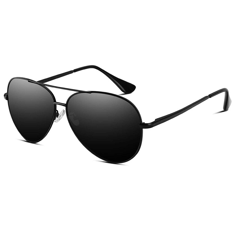 VVA Gafas de sol Hombre Polarizadas Aviador Hombres Aviador Gafas de sol Polarizadas Hombre Unisex Protección UV400 por V101