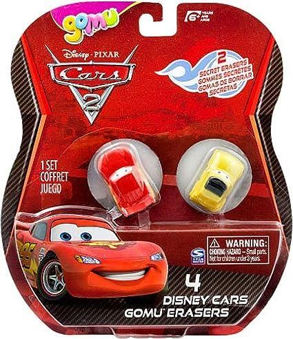 DISNEY PIXAR CARS 2 4 PACK ERASERS