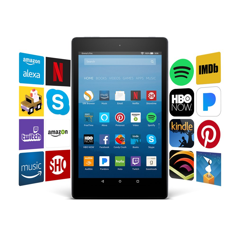 Certified Refurbished Fire HD 8 Tablet with Alexa, 8'' HD Display, 32 GB, Black - with Special Offers by Amazon (Image #9)