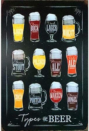 Newin Star Bar Placa de la Pared Se/ñal de la Vendimia la Lata del Metal Placa de la Pared Cartel para Caf/é Bar Pub Beer