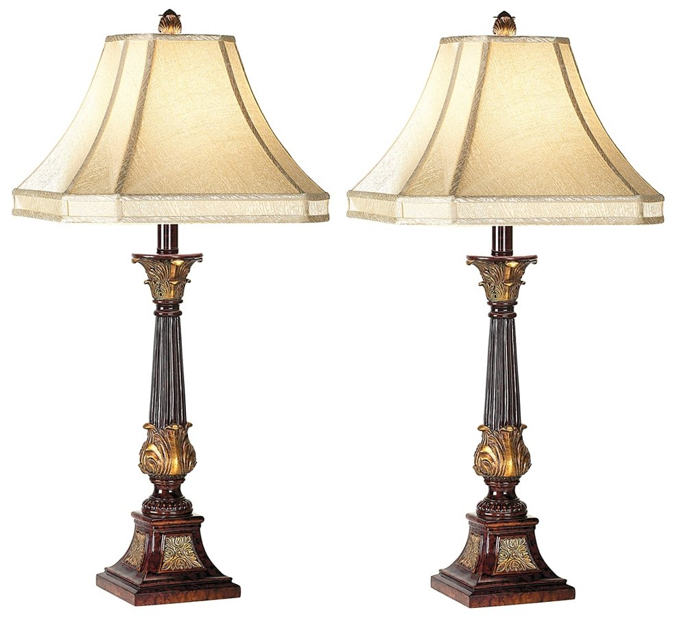 Set of Two English Bronze Buffet Lamps by Barnes and Ivy