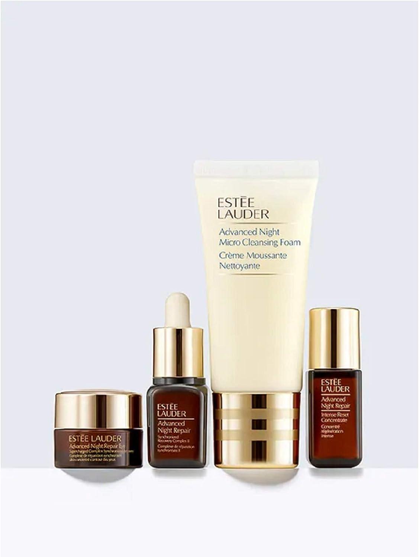 Estée Lauder SOS Skincare Set de cuidado de 4 piezas Repair + Glow Essentials (Cleansing Foam, Advanced Night Repair, Intense Reset Concentrate, Eye Supercharged Complex): Amazon.es: Belleza