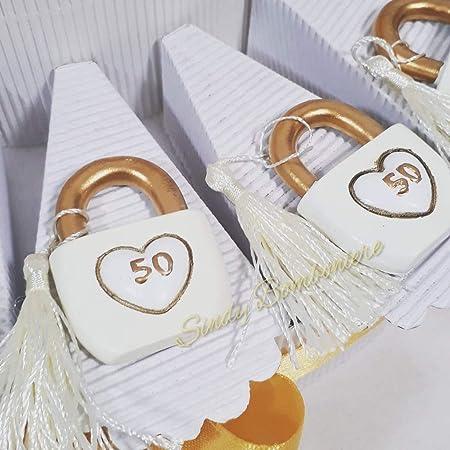 Anniversario Matrimonio Materiali.Idea Torta Bomboniera Per 50esimo 50 Anno Di Matrimonio Nozze