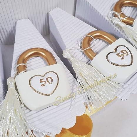 Bomboniere Matrimonio 50 Anni.Idea Torta Bomboniera Per 50esimo 50 Anno Di Matrimonio Nozze