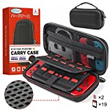 Case for Nintendo Switch, Lipeno Anti-impact Carry Case for Nintendo Switch Accessories & Console, 19+2 Card Slots, Hard EVA Portable Travel Case for Switch with Build-in Pocket...