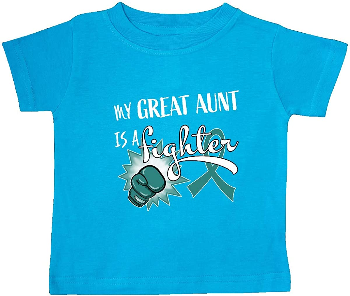 My Great Aunt is a Fighter Baby T-Shirt inktastic Ovarian Cancer Awareness