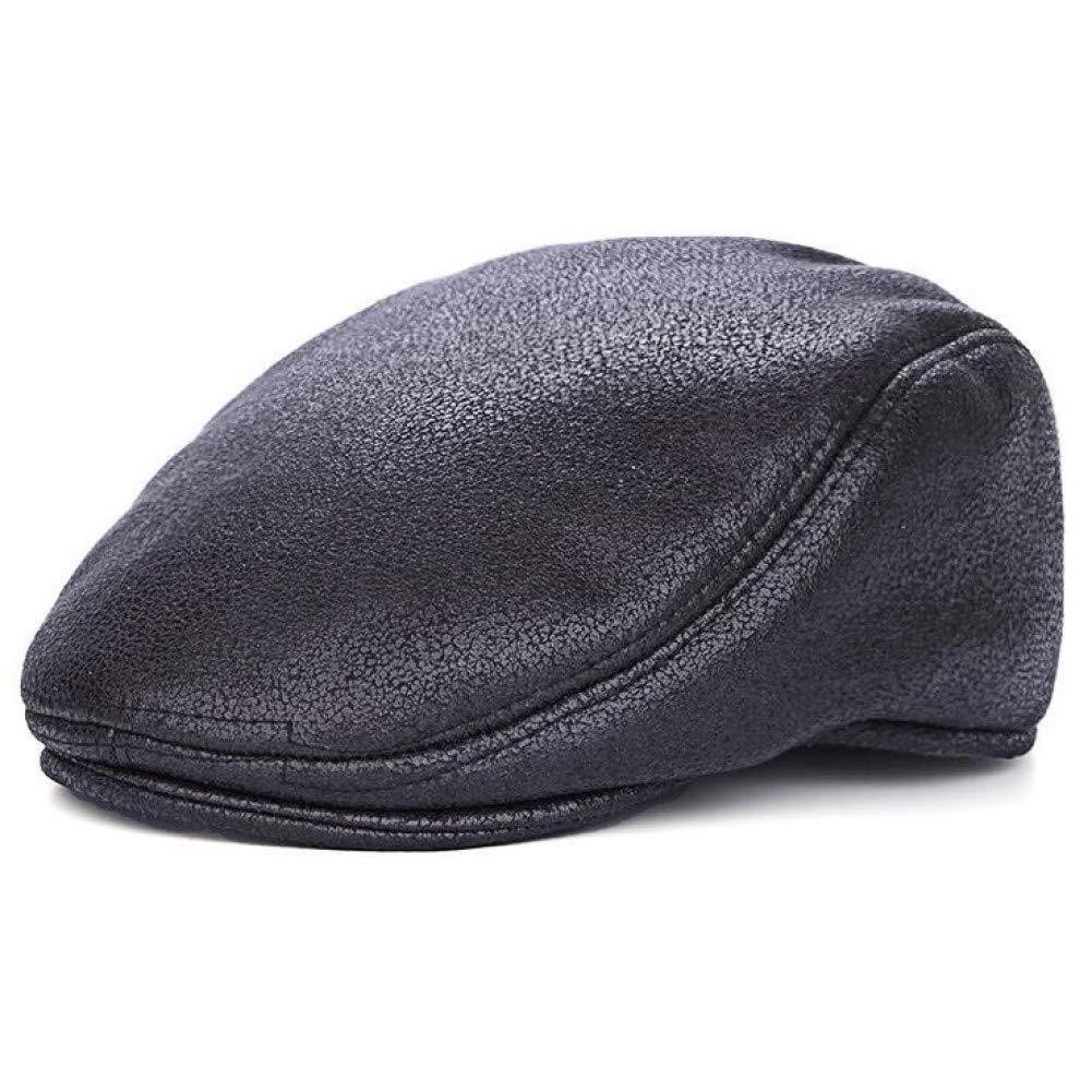COCKCE Plain Pu Berets Caps Mit Innen F/ür M/änner Casual Schirmm/ützen Berets Hats Casquette Cap