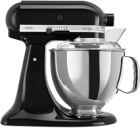 KitchenAid Artisan 5KSM175-Robot de Cocina (4,8 L), 300 W, Acero ...