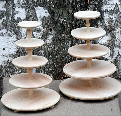 wooden cake stands for wedding cakes 5 five tiered wooden wedding cake stand cake 27589
