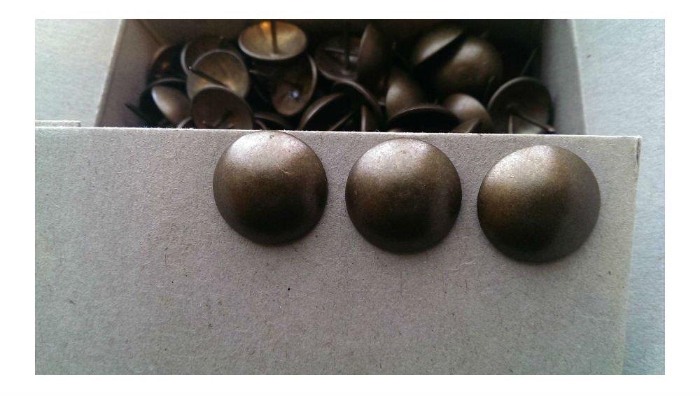 1''Dia Natural Dark Nails Upholstery Tacks Decorative Nail- 25- 50-100-250 (25 pcs) by Unknown (Image #2)