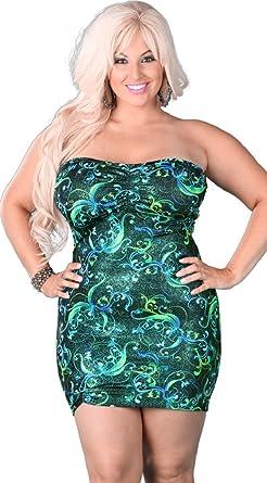 Green tube dress plus size