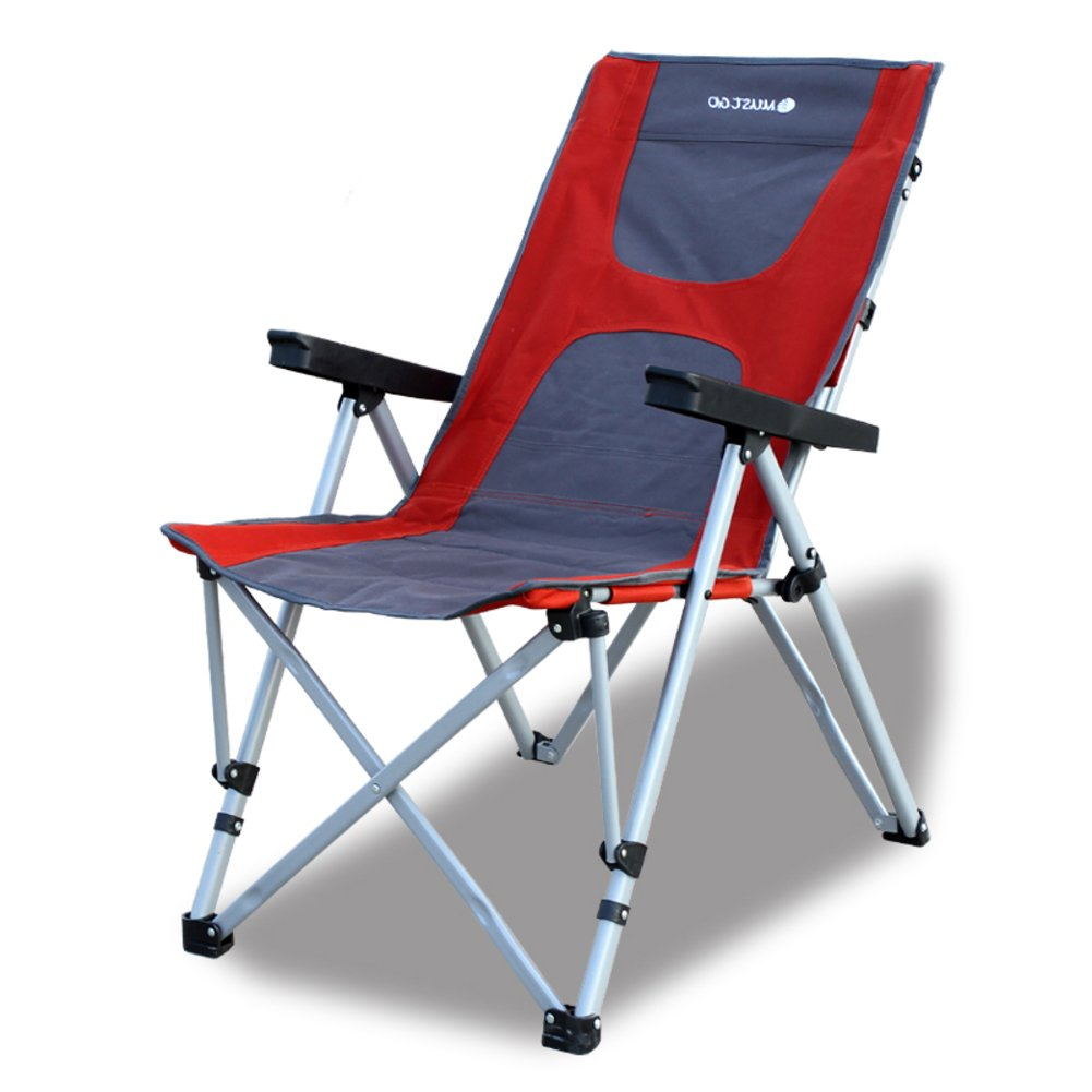 Be&xn Outdoor-Camping klappstuhl, Liegestühle,Lounge Chair Portable Ageln Stuhl Leisure Stuhl Liegestuhl-A W56xH102cm(22x40inch)