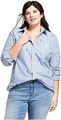 f38e7b4251e62 Ava   Viv Women Plus Size Button-Down Floral Embroidery Long Sleeve Blouse