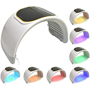 LED Facial Light Therapy - 7 Colors Including Red Light Therapy For Healthy Face and Skin Rejuvenation   Home Light Therapy Facial Treatment