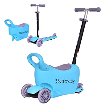 Amazon.com: HONEY JOY - Patinete para bebé, 3 en 1, para ...