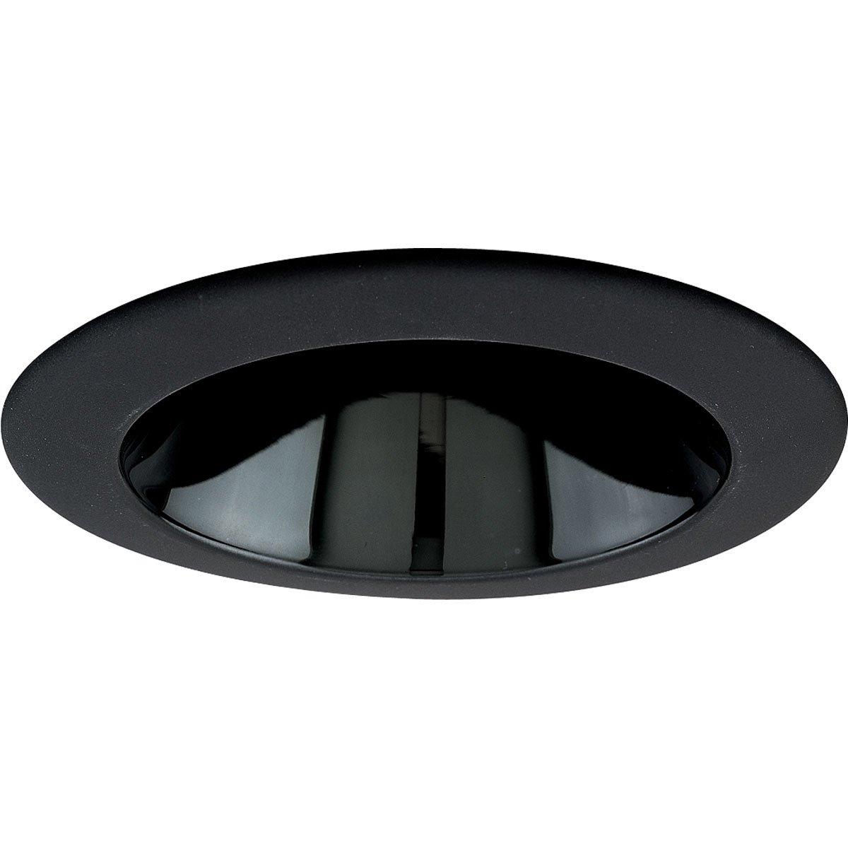 Progress Lighting P8049-31 Black Alzak Ic Trims with 360 Degree Positioning That Tilt 20 Degrees with 5-Inch Outside Diameter, Black Alzak