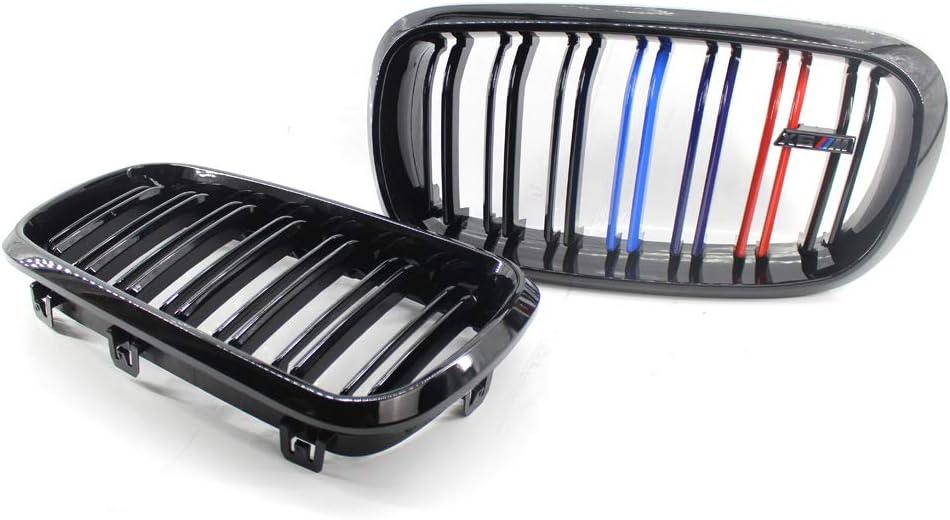 Adatto per griglie B-M-W F15 X5 14-17 nero brillante a due linee M versione Grill Grill Grill Gloss