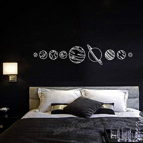 Sistema solar JXAA Tatuajes de pared Sala de estar Decoración para ...