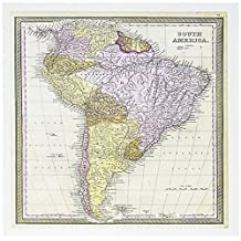 3dRose Old South America Map – Tarjetas de felicitación, 15,24 x 15,24 cm, juego de 12 (gc_50918_2)