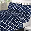 Utopia-Bedding-3PC-Bed-Sheet-Set-1-Flat-Sheet-1-Fitted-Sheet-and-1-Pillow-Case-Twin-Navy