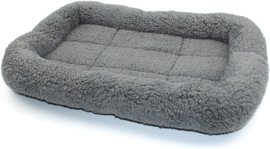 UEETEK Camas de manta para mascotas Manta suave y cálida para cachorros, Colchón para gatitos, Cama con cojín para mascotas para pequeños perros medianos Gatos para dormir (Gris)