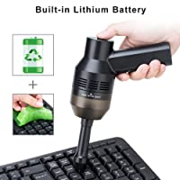 Wonyered Keyboard Mini Cleaner With USB Rechargeable Cordless Desk Vacuum Cleaner