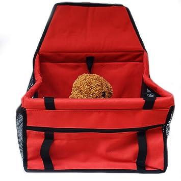 Asiento portátil para automóvil con refuerzo para mascotas - para correa de seguridad de bolsa transpirable