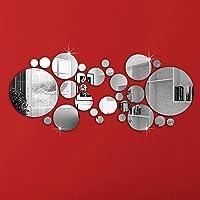 OMGAI Ronde/Cercle Miroir Sticker Mural Autocollants Maison décoration