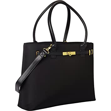 Amazon.com: Women In Business Thoroughbred Laptop Tote - Black ...