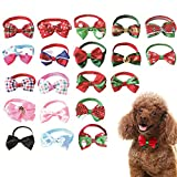 "20 Pcs Dog Bow Ties Puppy Bowtie Cat Collar Set 8-13"" by KOOLTAIL"