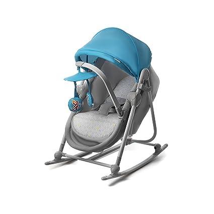 Cuna balancín Unimo, de Kinderkraft, para bebés, azul