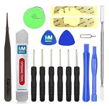 MMOBIEL Kit de Herramientas Universal 17 en 1 Contiene: Pegatinas Adhesivas, Herramientas de Apertura para Smartphones, Tablets, PSP, Nintendo etc. ...